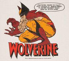 L * Nos vtg 80s 1988 Wolveine marvel comic t shirt * Cs4