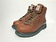 "Carhartt Mens 6"" Waterproof Soft Toe Work Boot CMW6185 Camel Brown Oil Tanned SZ"