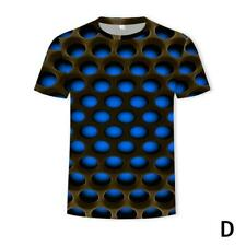 Funny Hypnosis 3D T-Shirt Men Women Colorful Print Casual Short Sleeve Tops KAS