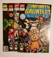 The Infinity Gauntlet #1, 2, 3, and 4 Marvel Comics 1991 * 4 Book Lot *