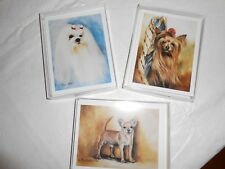 Best Friends Notecards By Ruth Maystead- Chihuahua, Maltese, Yorkie-3 Boxes-Nib!