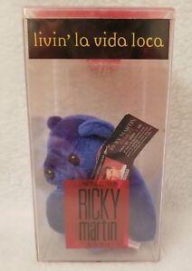 Vtg NIB SEALED 1999 Ricky Martin Livin' La Vida Loca Limited Edition Bean Bear