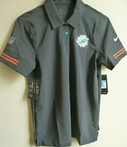 Women's NFL Nike Miami Dolphins Football Polo Shirt M CJ9870