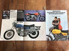 catalogue brochure ancien de moto numéro 14 norton commando 1970