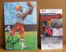 Paul Warfield, Cleveland Browns, Signed Goal Line Art Card, First Series, JSA