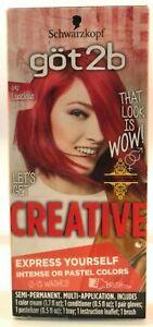 Schwarzkopf Got2b Creative Semi-Permanent Hair Color, 092 Luscious Red