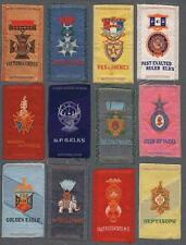 S17 Military And Lodge Medals by Egyptienne Luxury Tobacco Silks Lot of 27