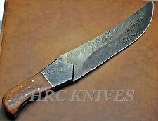 "DA1 ~ 13"" CUSTOM HANDMADE HRC DAMASCUS HUNTING KNIFE W/ ROSE WOOD HANDLE - USA"