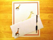 Giraffe Stationery Writing Set With Envelopes - Lined Stationary