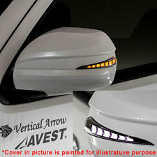 For Toyota 4Runner Lexus GX470 Hiace Unpainted Side Mirror Cover w/LED DRL White