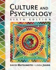 Culture and Psychology by Linda Juang and David Matsumoto (2016, Hardcover) NEW