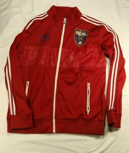 Adidas Real Salt Lake Red Track Top Football Soccer Jacket Size L Large