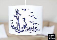 Deckenlampe Hängelampe Lampenschirm Maritim Anker Kind der Küste