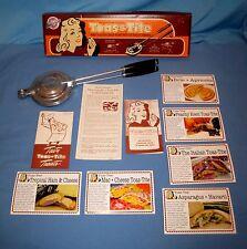NIB Toas-Tite Aluminum Sandwich Snack Maker Round Pie Grill Iron W/Recipes!