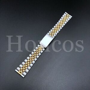 18-22 MM President Jubilee Steel Watch Band Bracelet Fits for Seiko Rose Gold