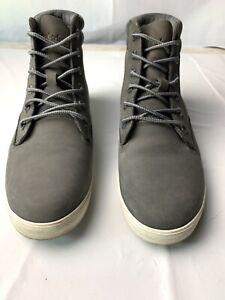 Timberland Dausette Sneaker Boot Medium Grey Nubuck Women's Shoes A1ZXF