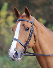 Shires Aviemore Plain Hunter Flat Wide Noseband Leather Bridle Horse, Pony