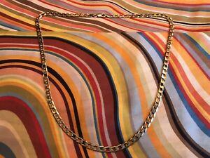 9ct Gold Flat Link Curb Chain 20'' not scrap