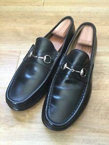Gucci mens horsebit loafers dark brown Size 13