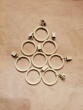 Pottery Barn Kids Set of 13 Cream Metal Round Clip Curtain Rings Pre-owned