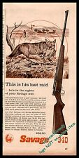 1959 SAVAGE Model 340 Bolt Action Rifle AD Fox w/ chicken