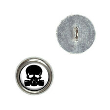 Zombie Outbreak Response Team - Skull Gas Mask - Sewing Novelty Buttons Set of 4