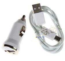 Car Charger+Micro USB Cable for Samsung Galaxy S4 i9500 S IV S3 S III i747 White