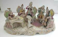 A FINE ANTIQUE BIG PORCELAIN GROUP OF A MUSICAL BAND OF 5- BY DRESDEN (AR 4)