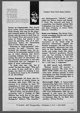 1966 Tv Article~Russian Newspaper Criticizes Batman~Cassius Clay Bout Televised