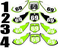 2006-2015 Kawasaki KX65 KX 65 Number Plates Side Panels Graphics Decal