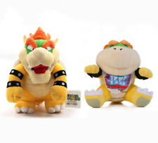 2PCS Super Mario Bros King Koopa & Bowser Jr. Stuffed Plush Doll Toy Set US SHIP