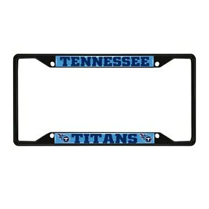 Fanmats NFL Tennessee Titans Black Metal License Plate Frame Del. 2-4 Days