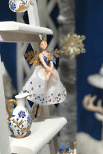 Gisela Graham Resin Fairy Angel Tree Topper Or  2 Decorations Blue And Gold