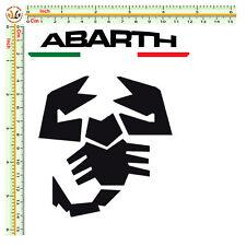 Adesivi abarth ita scorpione sticker auto moto casco print pvc scontornato 2 pz.