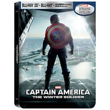 Captain America The Winter Soldier 3D Limited Edition Steelbook Blu-ray Best Buy
