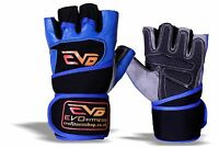 EVO Fitness Pure Leather Cycling Gloves Weightlifting Gym Glove Exercise Bodybui