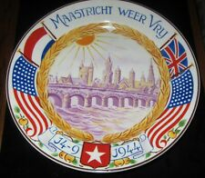 Cociete Maastricht Ceramique Free Dutch Holland 1944 WWII Plate