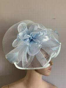 NEW Pale Blue flower Headband Wedding Fascinator Race Day Accessories