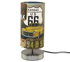 Route 66 USA Lamp Light Lampshade New York Bedside Desk Table Night Light Diner