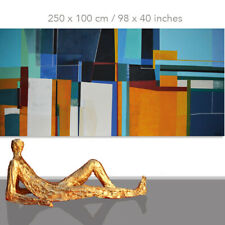 ABSTRACT PAINTINGS # MODERN ART WALL HAND PAINTED CANVAS DECOR NORTH* 78 x 40