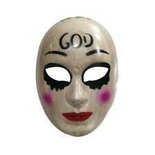 The Purge Anarchy GOD Style Mask Halloween Fancy Dress Costume Horror PLASTIC