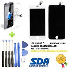 DISPLAY SCHERMO IPHONE 5c NERO BIANCO PER APPLE TOUCH SCREEN LCD VETRO FRAME TOP
