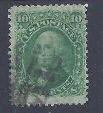 USA 1861 10c WASHINGTON USED  SG 64 (#5)
