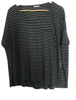 WALLIS OVERSIZED NAVY BLUE STRIPED TOP SIZE M 14/16