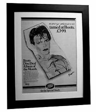 DAVID BOWIE+Scary Monsters+POSTER+AD+ORIGINAL RARE 1980+FRAMED+FAST GLOBAL SHIP