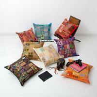 5 PC Lot Handmade Vintage Patchwork Ethnique Indien Sol Housse Coussin 40.6cm
