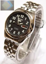 Gift + Stainless Steel Band Automatic Men's Black Watch SNK381K1 New SEIKO 5