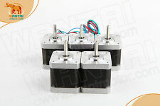 High holding Torque 5pc Nema17 Stepper Motor 55kg.cm 79OZ-IN 1.5A with connector