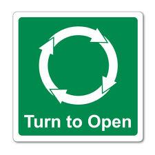 Gire para abrir las agujas del reloj Auto Adhesivo Pegatinas Signos