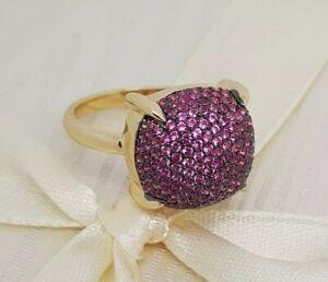 Tiffany & Co. Paloma's Sugar Stacks Ring Pink Sapphire 18k Yellow Gold Size 6